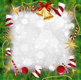 Christmas Frame With Holly Decoration. Vector Stock Photo