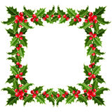 Christmas frame with holly. Vector illustration. Stock Image