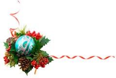 Christmas frame, isolated. Over white Stock Photos