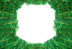 Christmas frame isolated on white background Royalty Free Stock Photo
