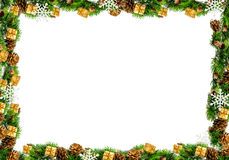Christmas frame isolated on a white background Stock Image