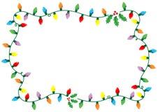 christmas frame lights Στοκ εικόνα με δικαίωμα ελεύθερης χρήσης