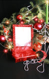 christmas frame lights Στοκ Εικόνες