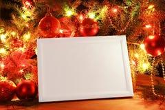 christmas frame lights Στοκ φωτογραφίες με δικαίωμα ελεύθερης χρήσης