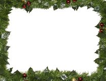 Christmas frame made of fir branches royalty free stock image