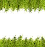 Christmas Frame Made in Fir Branches. Illustration Christmas Frame Made in Fir Branches, Copy Space for Your Text - Vector Royalty Free Stock Photography