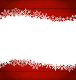 Christmas frame made of snowflakes with copy space for your text Royalty Free Stock Photography