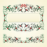 Christmas frame with mistletoe Stock Photography