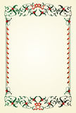 Christmas frame with mistletoe Stock Image