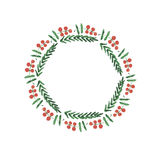 Christmas frame, new year wreath Royalty Free Stock Images