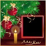 Christmas frame for photo Stock Image
