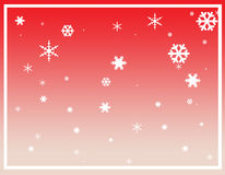 Christmas frame. Photoshop of a cute frame for Christmas with decorated Christmas trees stock illustration