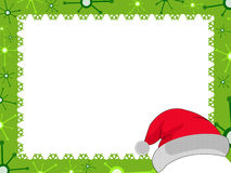 Christmas frame. Photoshop of a cute frame for Christmas with decorated Christmas trees vector illustration
