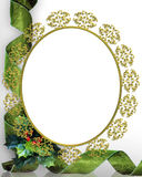 Christmas Frame Picture Oval  Royalty Free Stock Photos