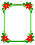 Christmas frame poinsettia stock photography