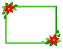 Christmas frame poinsettia Stock Image