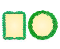 Christmas frame rectangle and a circle vector Royalty Free Stock Photo