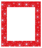Christmas frame. On red background Royalty Free Stock Photography