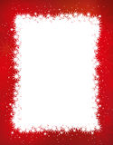 Christmas frame. Red Christmas frame. illustration royalty free stock photos