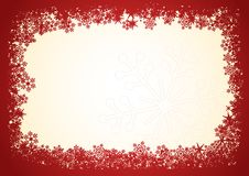 Christmas-frame-red Stock Photos