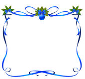 Christmas frame from ribbons Royalty Free Stock Image