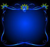 Christmas frame from ribbons Royalty Free Stock Photography