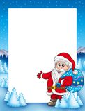 Christmas frame with Santa Claus 1 Royalty Free Stock Photo