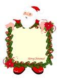 Christmas frame with Santa stock photos