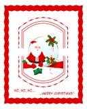 Christmas frame with Santa stock photo