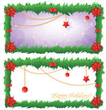 Christmas Frame. Set containing two Christmas banners Royalty Free Stock Photos