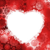 Christmas frame in the shape of heart. EPS 8 Stock Photo
