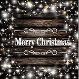 Christmas frame and snow Royalty Free Stock Image