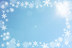 Christmas frame with snow Stock Photography