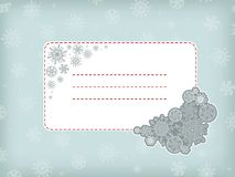 Christmas frame with snowflake. Royalty Free Stock Images