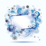 Christmas frame, snowflakes. Royalty Free Stock Photo