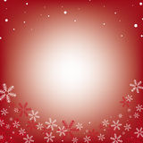 Christmas Frame with snowflakes Royalty Free Stock Photos