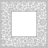 Christmas frame from snowflakes for a card vector. Pattern for c Royalty Free Stock Photo
