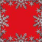 Christmas frame with snowflakes on the edge Royalty Free Stock Photography