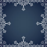 Christmas frame with snowflakes on the edges Stock Photography