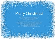Christmas frame with snowflakes Royalty Free Stock Images