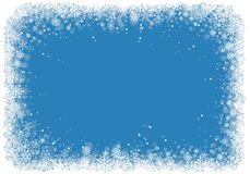 Christmas frame with snowflakes Royalty Free Stock Photo