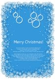 Christmas frame with snowflakes Stock Photography