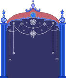 Christmas frame with snowflakes Royalty Free Stock Photography