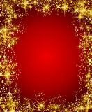 Christmas frame with stars Royalty Free Stock Photos