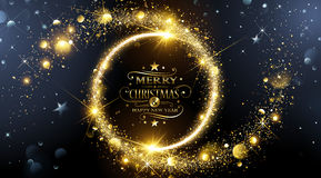 Christmas frame with stars Royalty Free Stock Photography