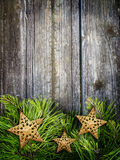 Christmas frame with stars Stock Photography