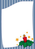 Christmas frame with stripes Stock Photos