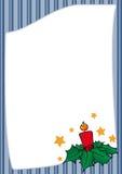 Christmas frame with stripes Stock Photos