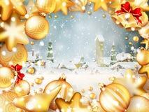 Christmas frame for text. EPS 10 Stock Photo