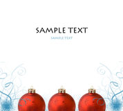 Christmas frame from toys. And ornaments with sample text Stock Image